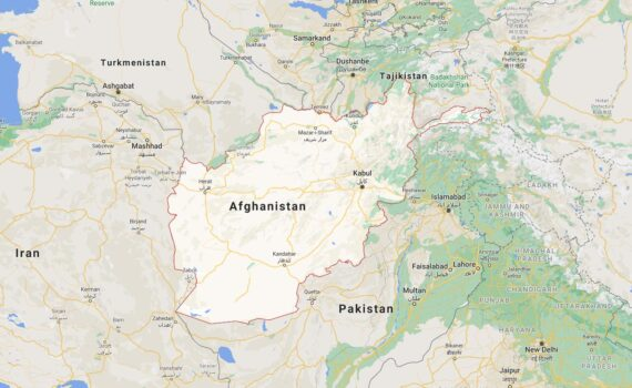 Afghanistan Border Countries Map