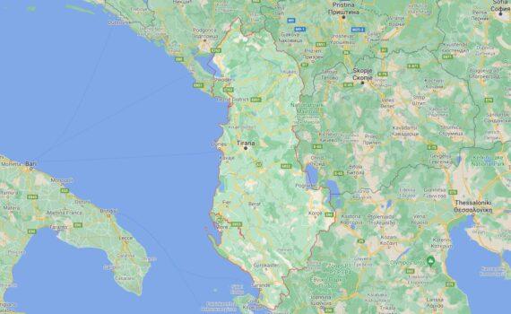 Albania Border Countries Map