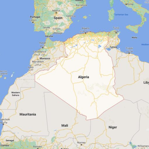 Algeria Border Countries Map