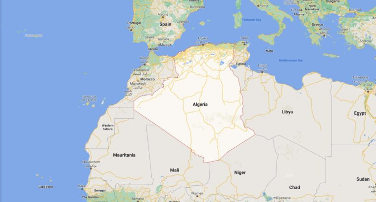 Algeria Border Countries Map