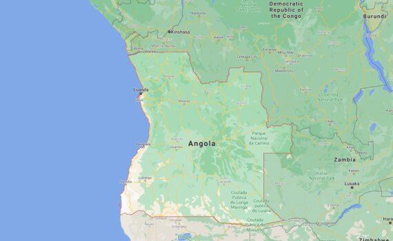 Angola Border Countries Map
