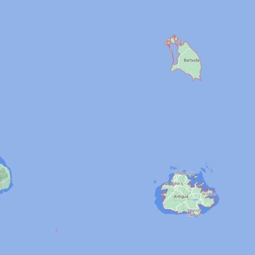 Antigua and Barbuda Border Countries Map