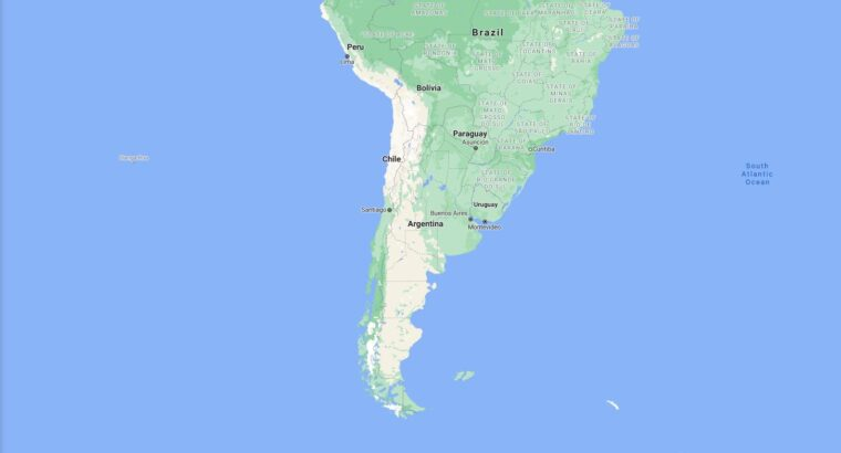 Argentina Border Countries Map