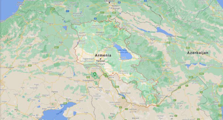 Armenia Border Countries Map