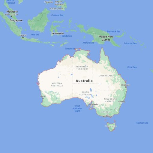 Australia Border Countries Map