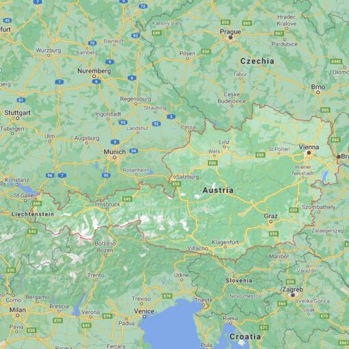 Austria Border Countries Map