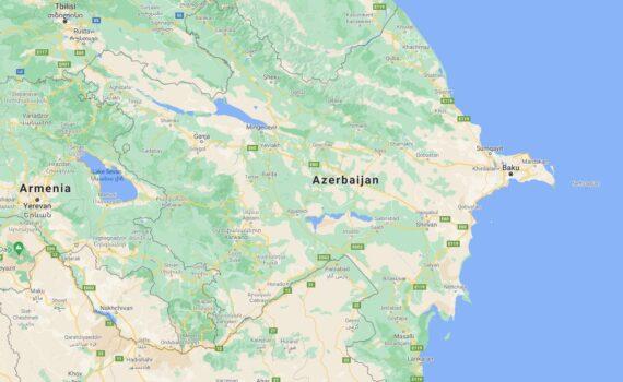 Azerbaijan Border Countries Map
