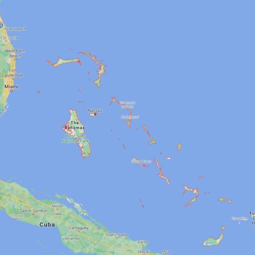 Bahamas Border Countries Map