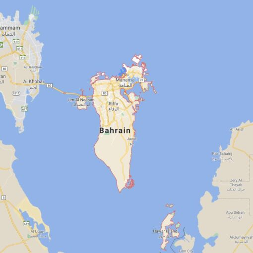 Bahrain Border Countries Map