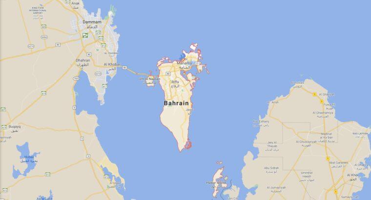 Bahrain Border Countries Map