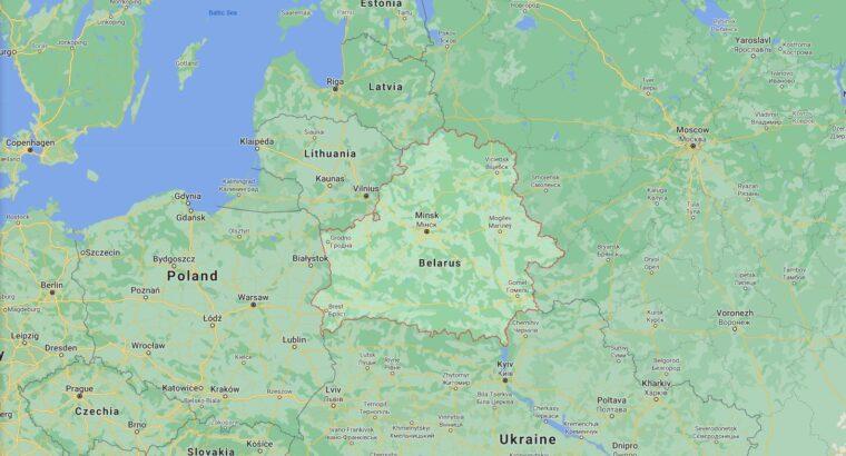 Belarus Border Countries Map