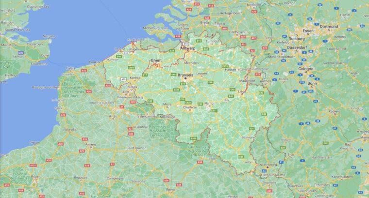Belgium Border Countries Map