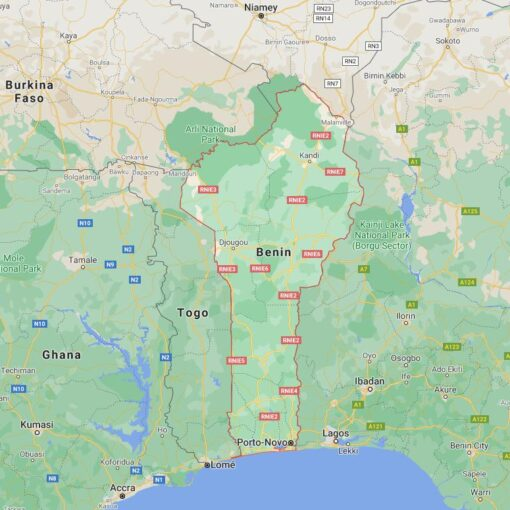 Benin Border Countries Map