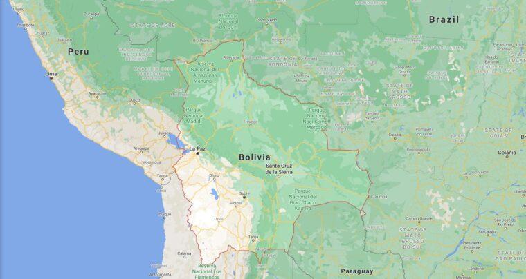 Bolivia Border Countries Map