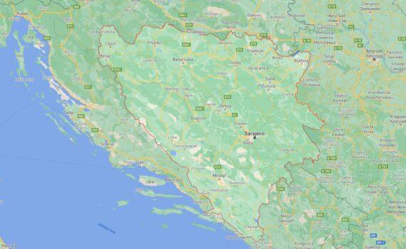 Bosnia and Herzegovina Border Countries Map