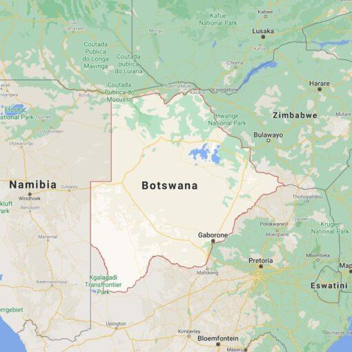 Botswana Border Countries Map