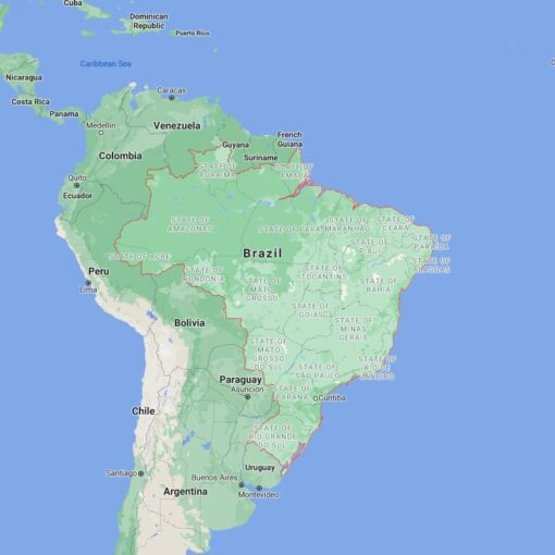 Brazil Border Countries Map
