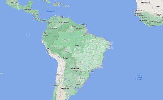 Brazil Border Countries Map