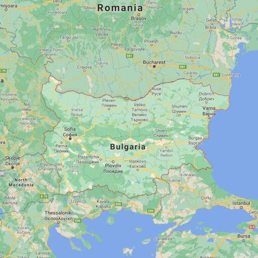Bulgaria Border Countries Map