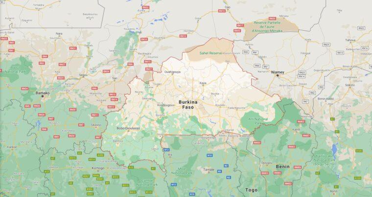 Burkina Faso Border Countries Map