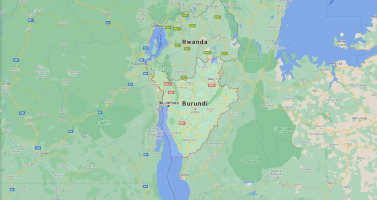 Burundi Border Countries Map