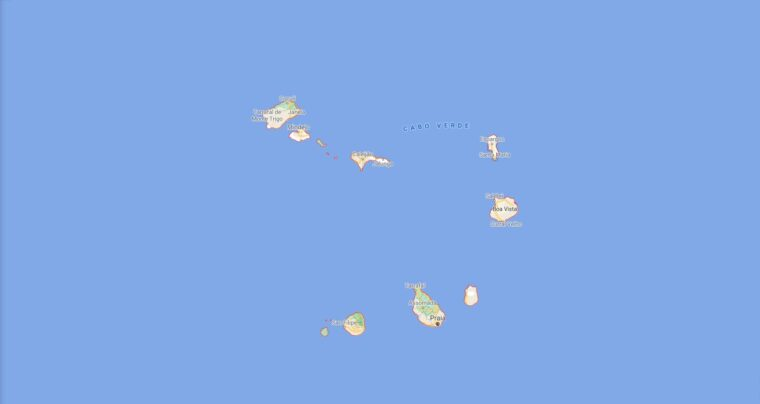 Cabo Verde Border Countries Map