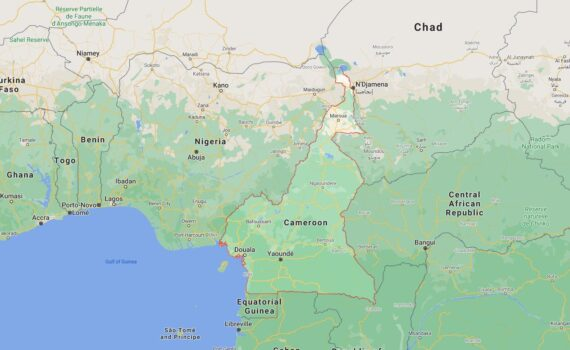 Cameroon Border Countries Map