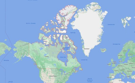 Canada Border Countries Map