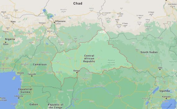 Central African Republic Border Countries Map