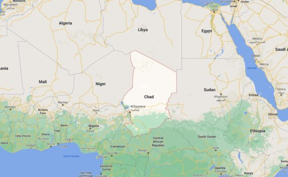 Chad Border Countries Map