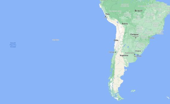 Chile Border Countries Map