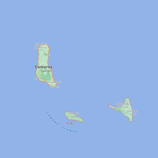 Comoros Border Countries Map