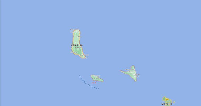 Comoros Border Countries Map