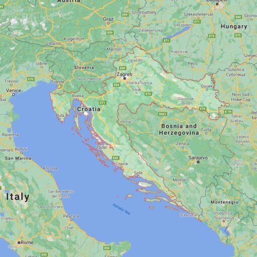 Croatia Border Countries Map
