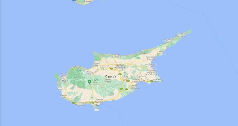 Cyprus Border Countries Map