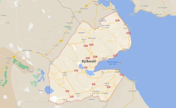 Djibouti Border Countries Map