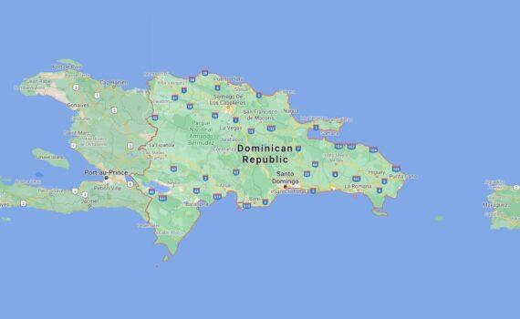 Dominican Republic Border Countries Map