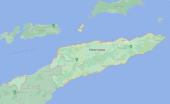 East Timor Border Countries Map