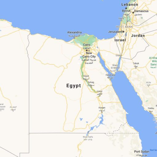 Egypt Border Countries Map