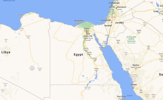 Egypt Border Countries Map