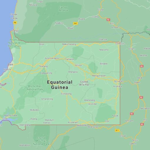 Equatorial Guinea Border Countries Map