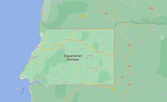 Equatorial Guinea Border Countries Map