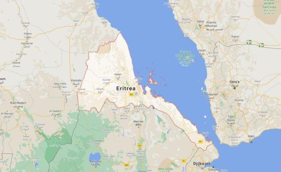 Eritrea Border Countries Map