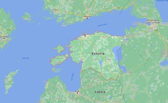 Estonia Border Countries Map