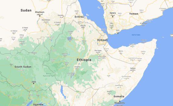 Ethiopia Border Countries Map