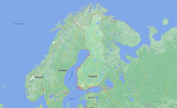 Finland Border Countries Map