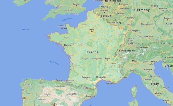 France Border Countries Map