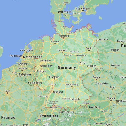 Germany Border Countries Map
