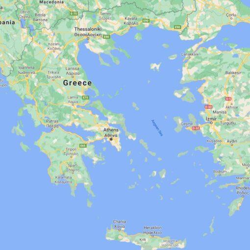 Greece Border Countries Map