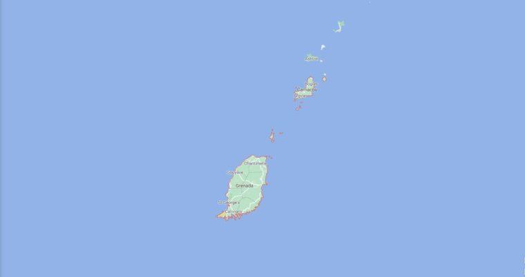Grenada Border Countries Map